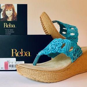 Reba!  Galleon!  Turquoise!  Sandals!